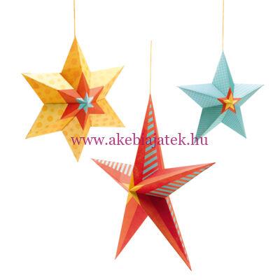 3D-s függődísz - Stars at night - Csillagok, CÉLESTE - Little BIG room by Djeco