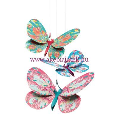 3D-s függődísz - Glitter butterflies - Csillámos pillangók, SALOMÉ - Little BIG room by Djeco