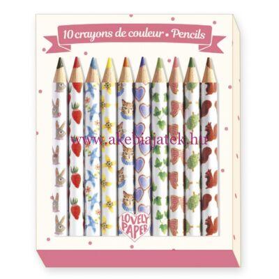 10 db mini színes ceruza - 10 Aiko mini coloured pencils - Djeco - Lovely Paper