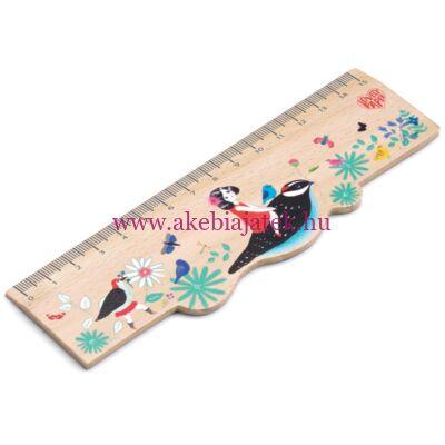 Vonalzó fából - Chic Wooden Ruler by Djeco - Lovely Paper