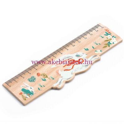 Vonalzó fából - Lucille Wooden Ruler by Djeco - Lovely Paper