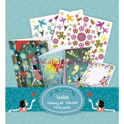 Violette - Az én ügyeim, füzet és kreatív szett - Djeco - Lovely Paper