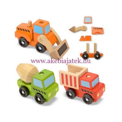 Járművek építkezéshez, Stacking Construction Vehicles - Melissa & Doug