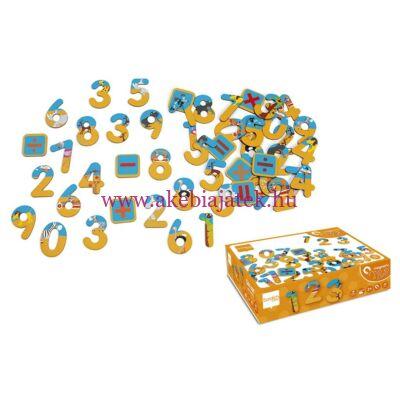 Mágneses számok 60 db, SZAFARI - Magnets 123 Safari - Scratch Europe
