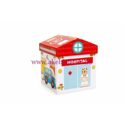 Mix+Play Játék Box KLINIKA, Play Box Hospital 2in1 - Scratch Europe
