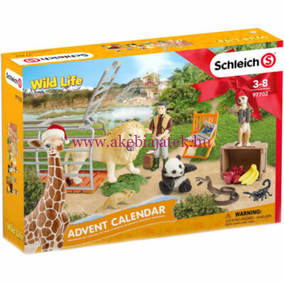 Vad állatok, Wild life 2018 adventi naptár - Schleich