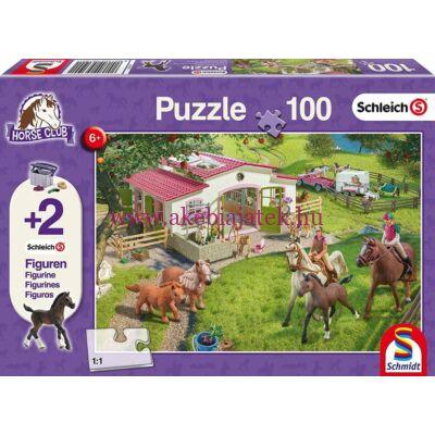 Horse Club Puzzle, 100db kirakó 2 db Schleich figurával - Schmidt Spiele