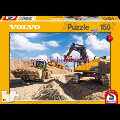 Volvo L120GZ, A40F, EC750D puzzle, kirakó 150db - Schmidt Spiele