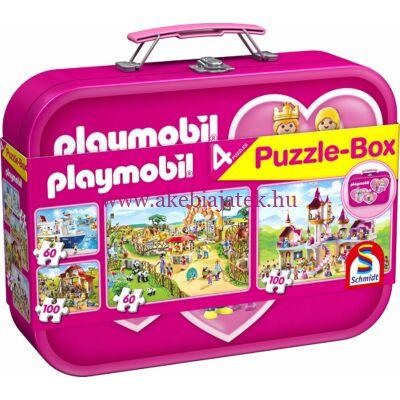 Playmobil Puzzle-Box 4 db lányos kirakóval, puzzle 5 éves kortól - Schmidt Spiele