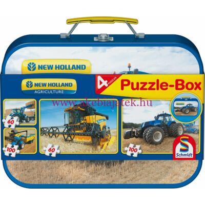 Mezőgazdasági gépek Puzzle-Box 4 db kirakóval, puzzle New Holland - Schmidt Spiele