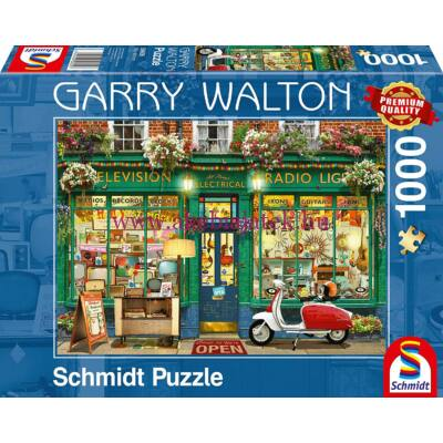 Elektronikai bolt 1000 db-os puzzle, kirakó - Garry Walton - Schmidt Spiele