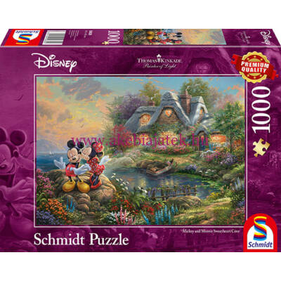Mickey&Minnie Sweethearts 1000 db-os puzzle, kirakó - Thomas Kinkade - Schmidt Spiele