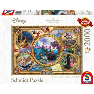 Disney Álmok Kollekció 2000 db-os puzzle, kirakó - Thomas Kinkade - Schmidt Spiele