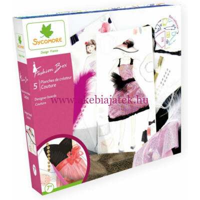 Divattervező kreatív készlet - Couture Fashion Box - Sycomore