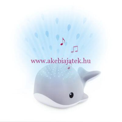 WALLY bálna projektor, kivetítő nyugtató dallamokkal, szürke - ZAZU