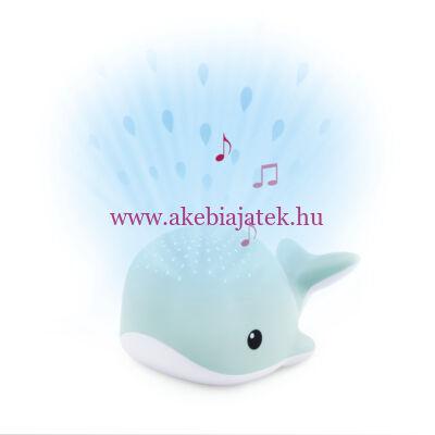 WALLY bálna projektor, kivetítő nyugtató dallamokkal, kék - ZAZU